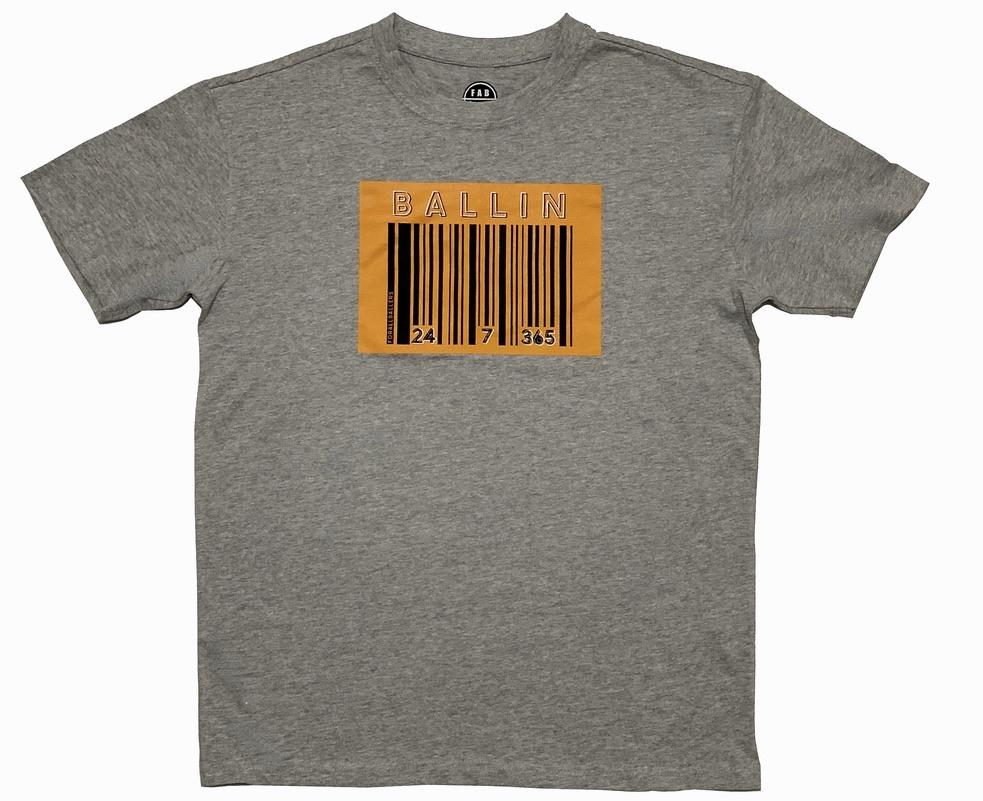BALLIN T-Shirt grau