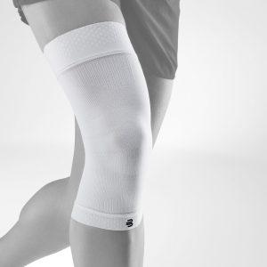 Bauerfeind schwarz Knie weiß