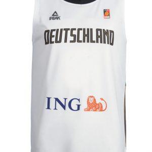 Deutschland Basketball Trikot weiß front